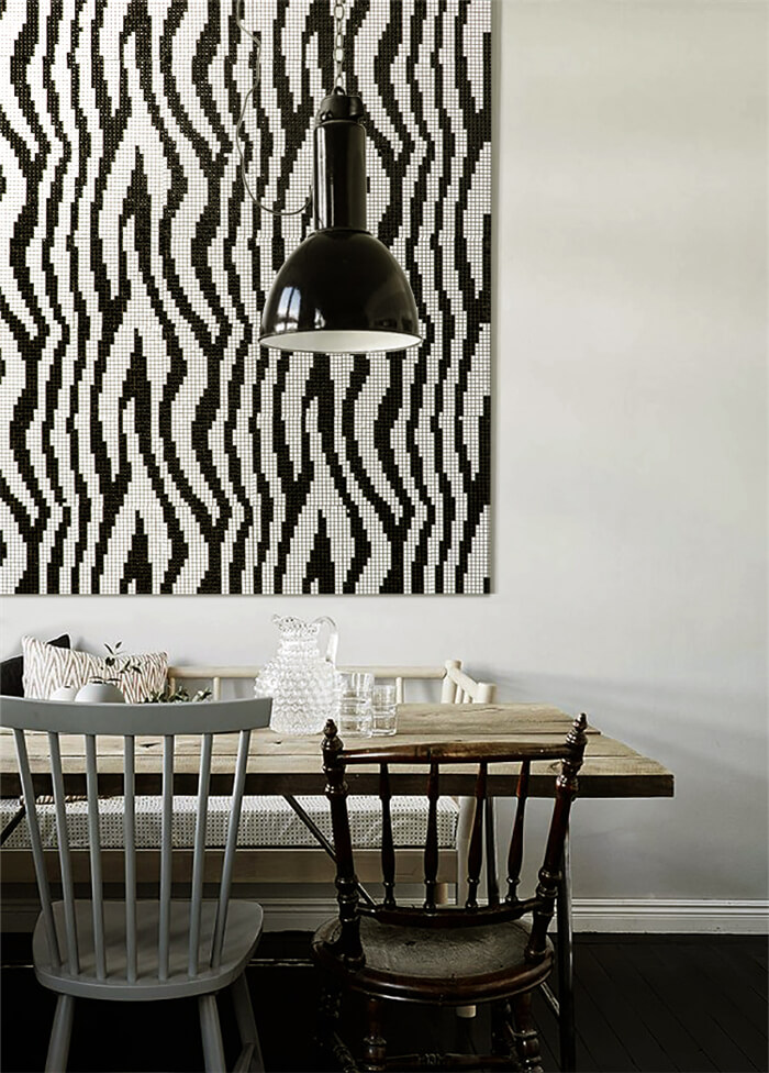 zebra pattern black and white mosaic style painting.jpg