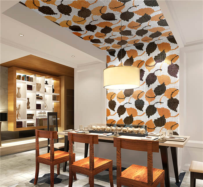 mosaic with autumn leave pattern in the dinning room.jpg