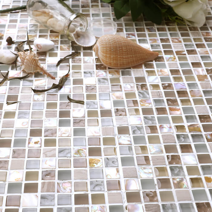 glass stone mother of pearl mixed mosaic square tile moist resistant.jpg