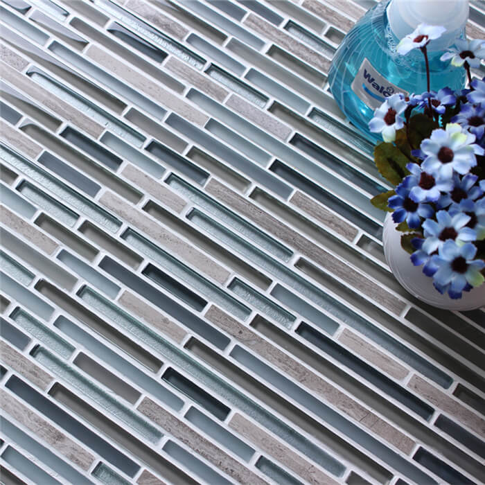 material blended long mosaic tile strips for decorative use.jpg