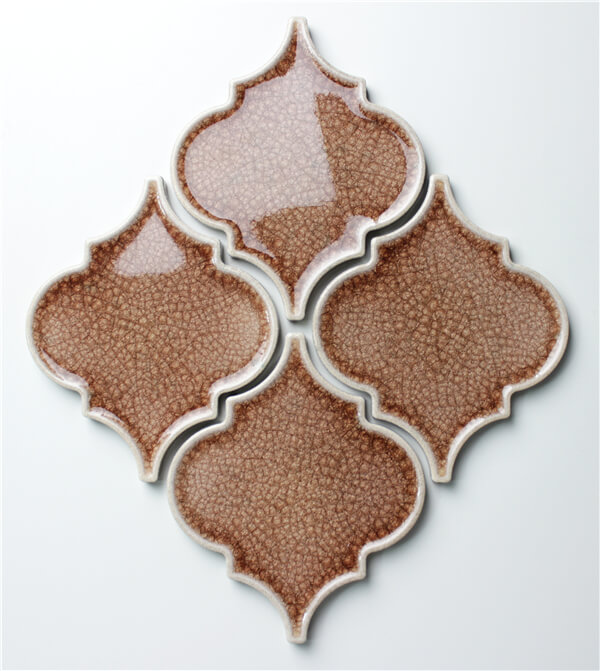 elegant fambe taxtured lantern shaped terra cotta backsplash tile.jpg