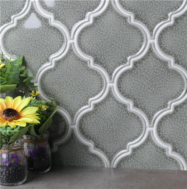 ice cracked light gray arabesque backsplash tile.jpg