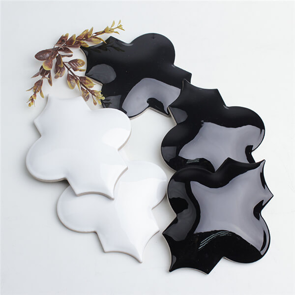 three dimensional whisper white and black arabesque tile.jpg