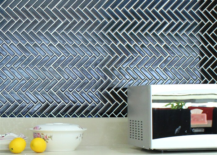 kitchen installing with black herringbone backsplash.jpg