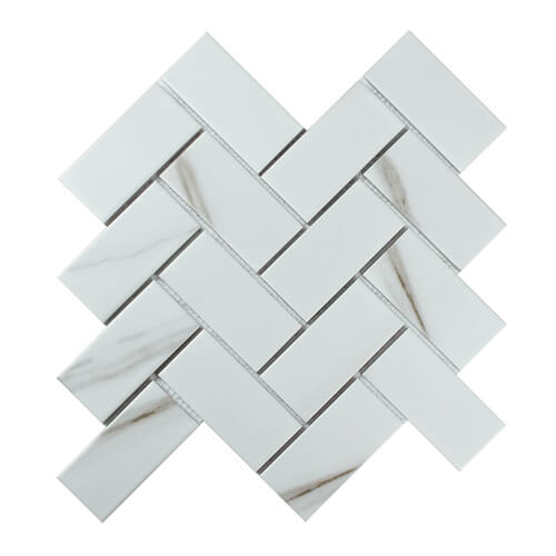 calacatta marble effect herringbone floor and wall tile.jpg