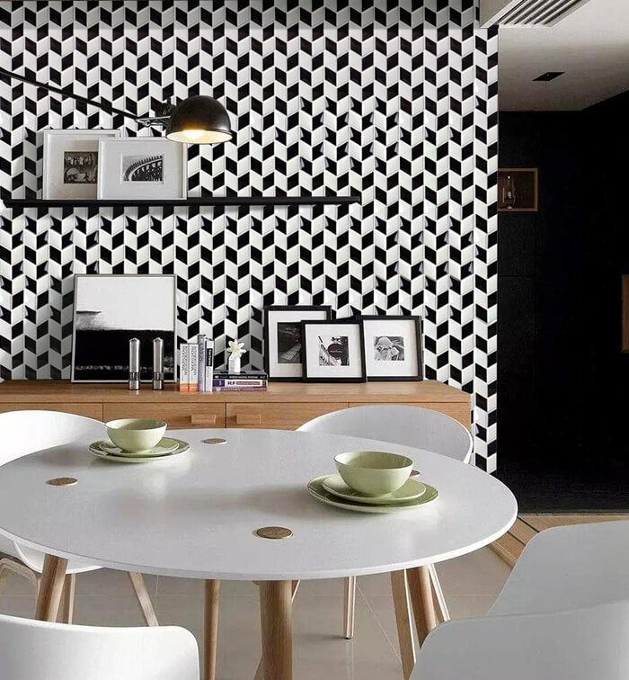 black and white rhombus feature wall.jpg