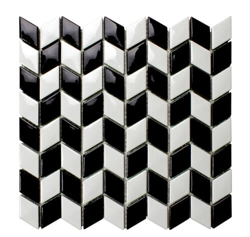 arrow design black white mosaic wall tile.jpg
