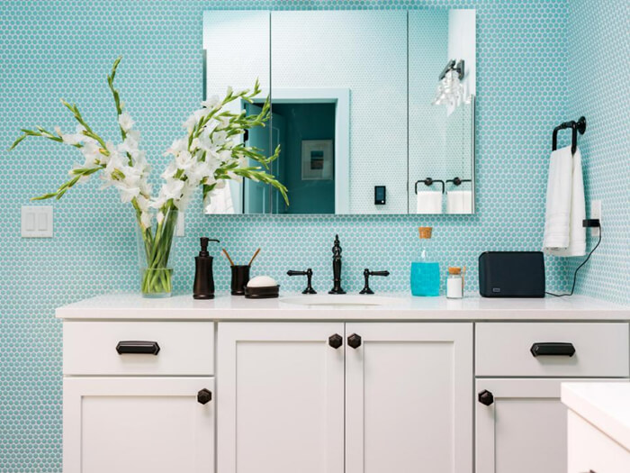 light blue penny tile backsplash in bathroom.jpg