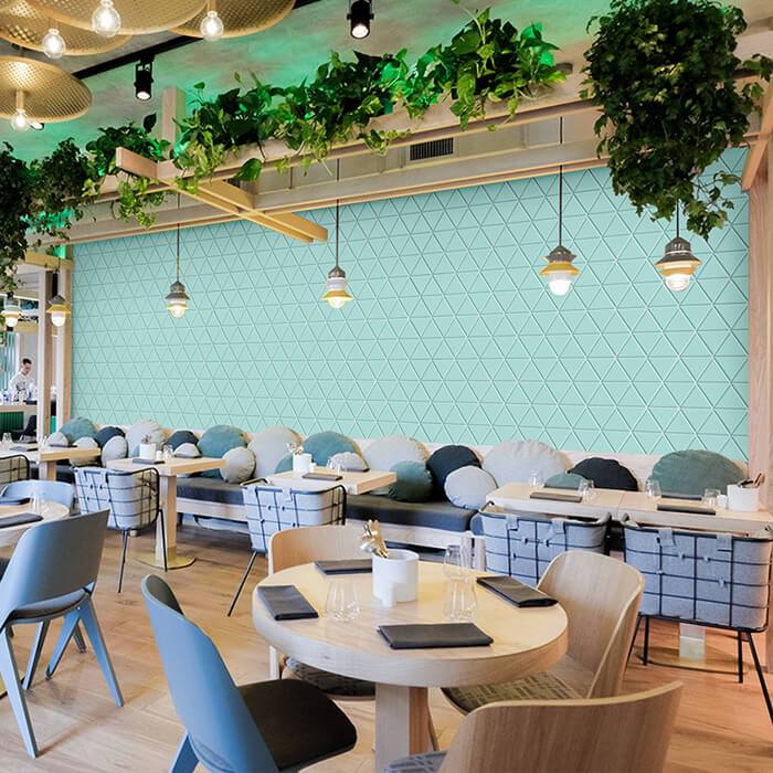mint green restaurant wall design.jpg