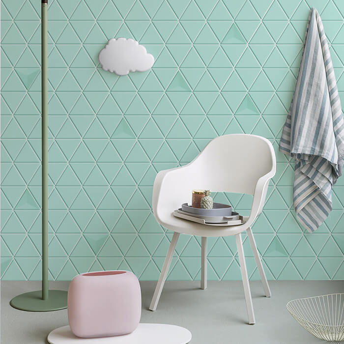 mint green triangle design wall.jpg