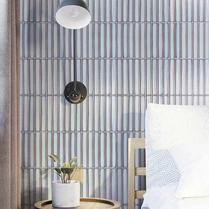 light blue strip tile mosaic bedroom wall.jpg