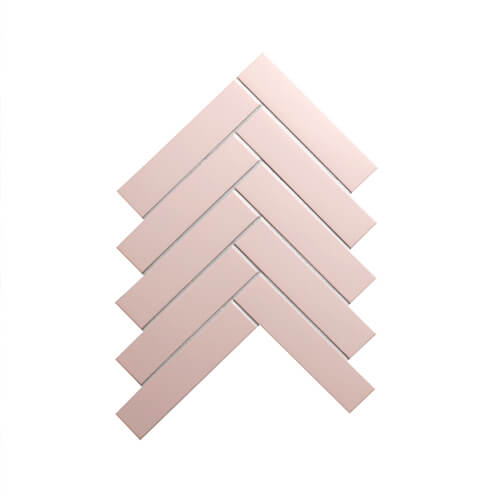 pink colored herringbone porcelain mosaic tile.jpg
