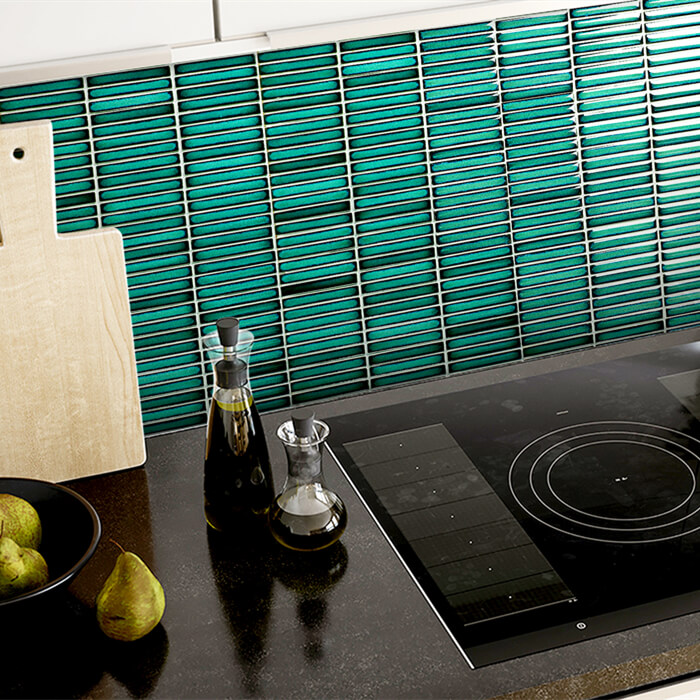 vintage green tile mosaic kitchen backsplash.jpg