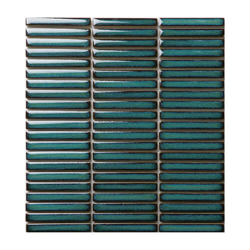 dark green strip shaped porcelain mosaic tile.jpg