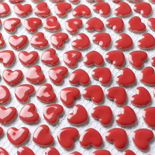 red porcelain heart shaped mosaic tiles CZG401CD.jpg
