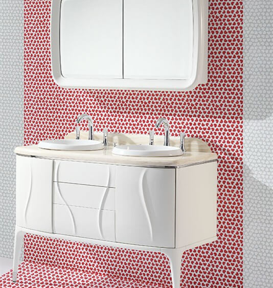 bold sweet bathroom design with heart shaped mosaic tiles.jpg
