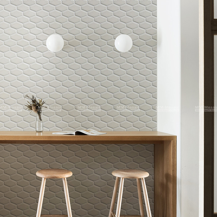 Dress up a characteristic wall with hexgaon ceramic mosaic.jpg