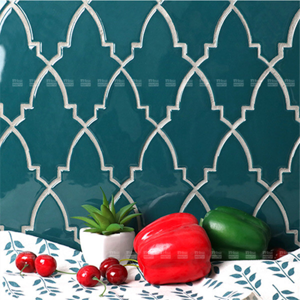 kitchen backsplash irregular shape mosaic tiles