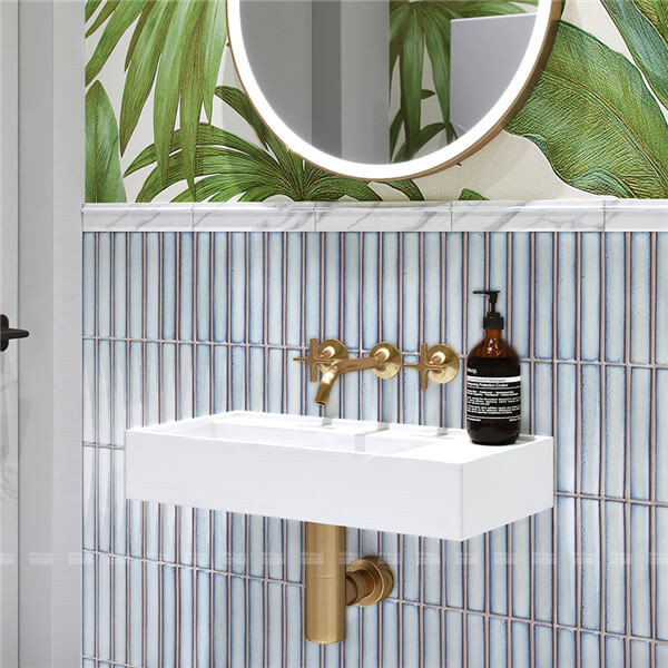 super stripe porcelain mosaic used in bathroom wall