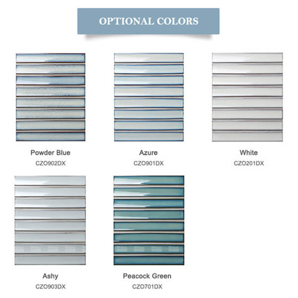 5 optional color of stripe mosaic