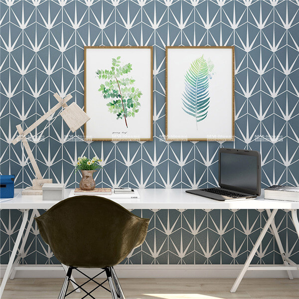 mosaic hexagon tile used as wall