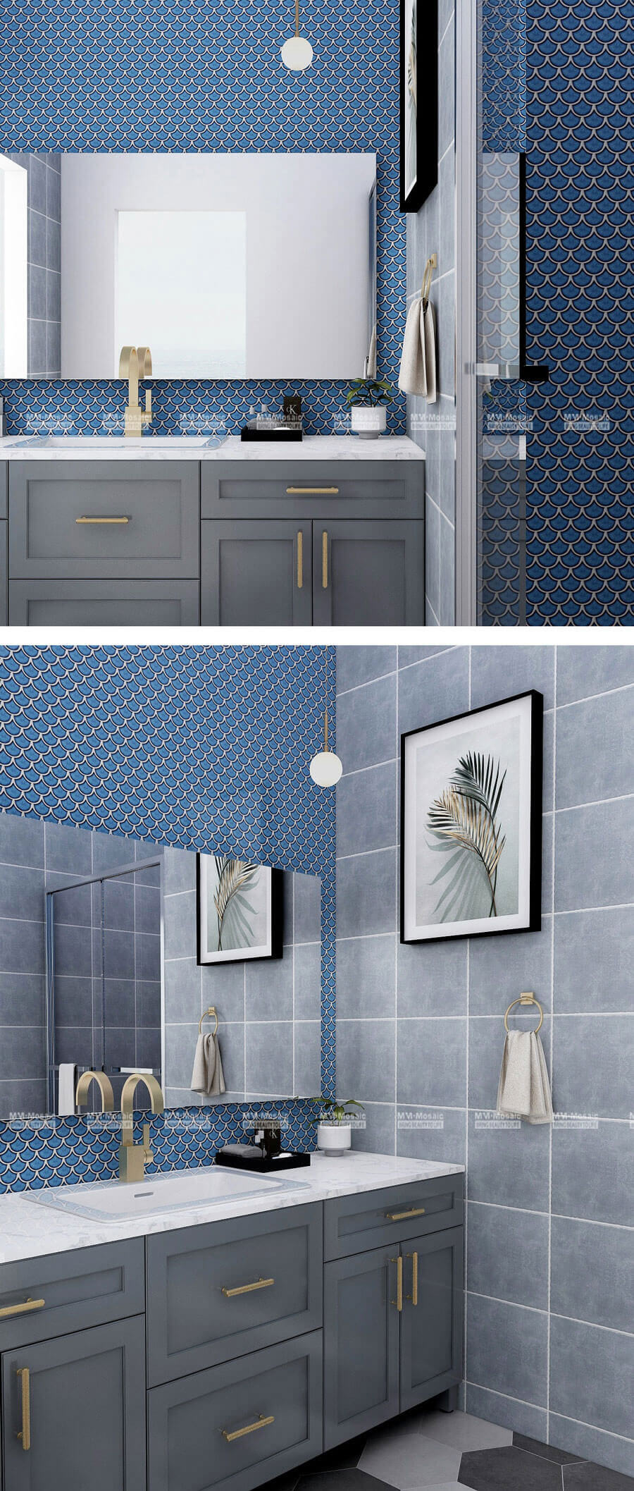 blue bathroom wall tiles