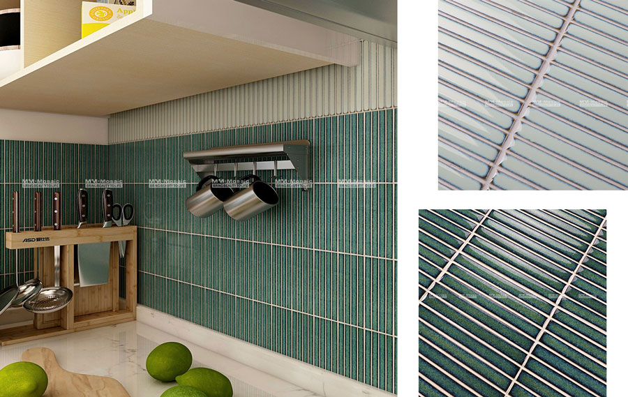 factory direct supply striped tile backsplash