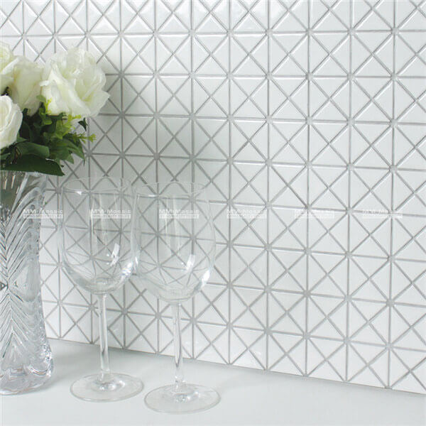 Small Size White Triangle Mosaics