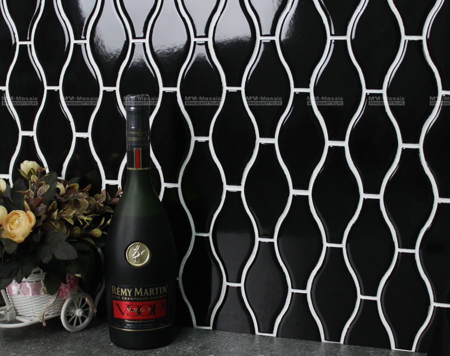 Bottle Shape Mosaic As Wall Tiles