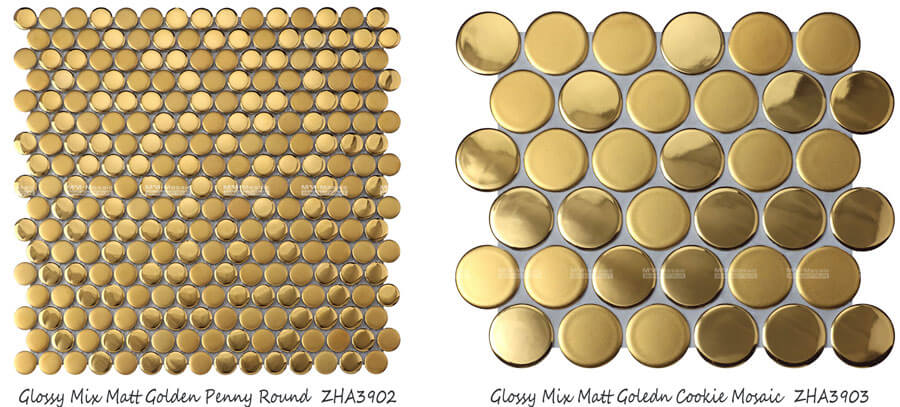 gold round mosaic by tile suppliers