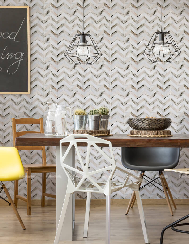 Peel and Stick Wall Tile As Dining Room Accent Wall ZOD6007-PS