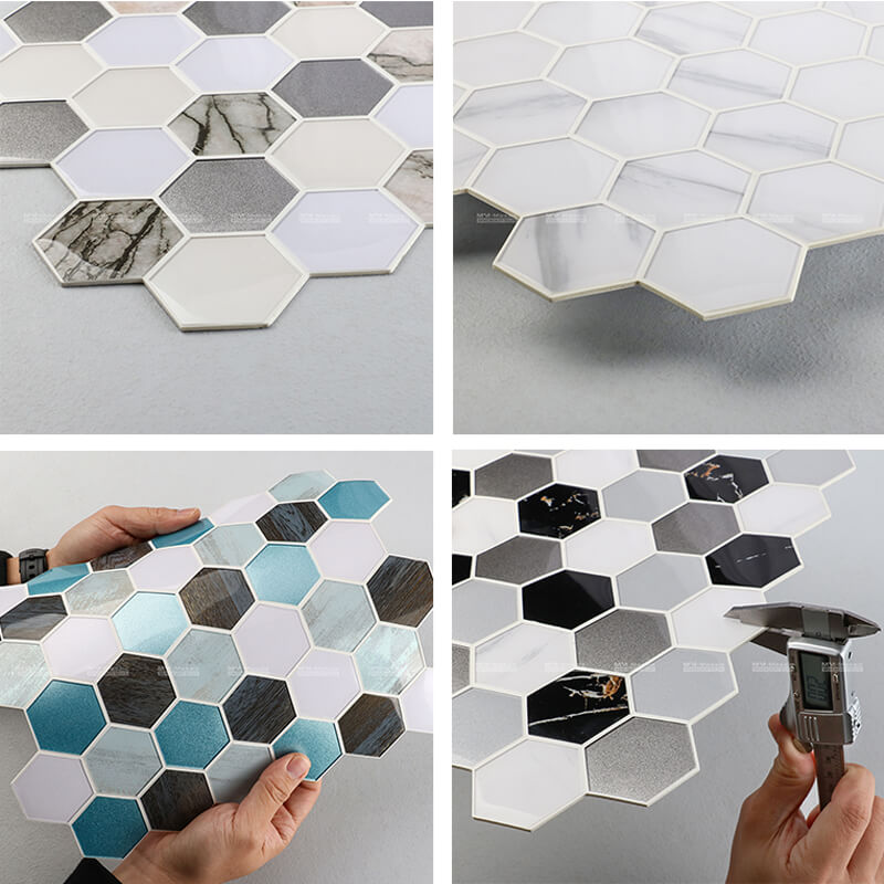 Peel and Stick Hexagon Mosaic Tile ZOD6006-PS