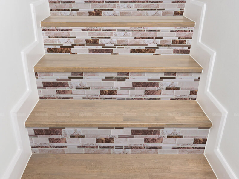 Stairs Riser with self adhesive mosaic tiles