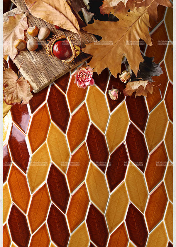 maple leaf mosaic pattern for wall accent ZOC5001.jpg