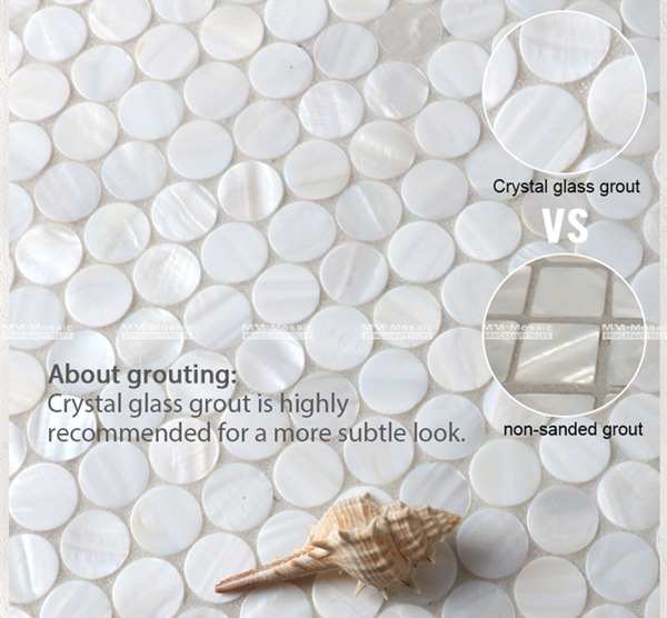 use crystal glass grout for shell mosaic tiles.jpg