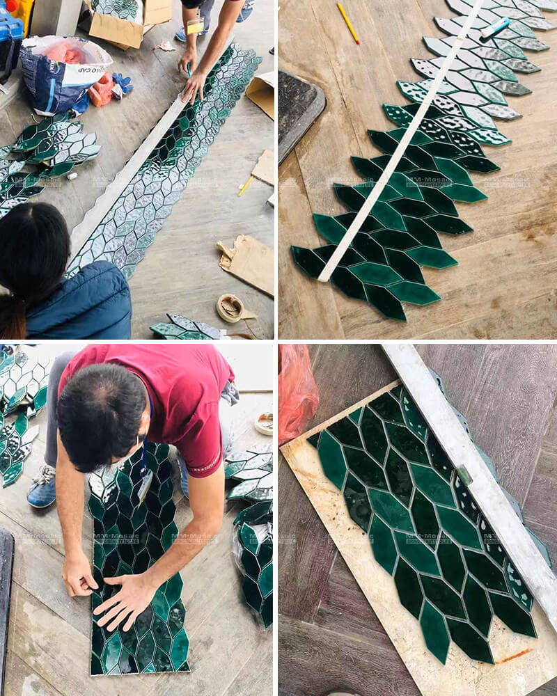 tile installation process