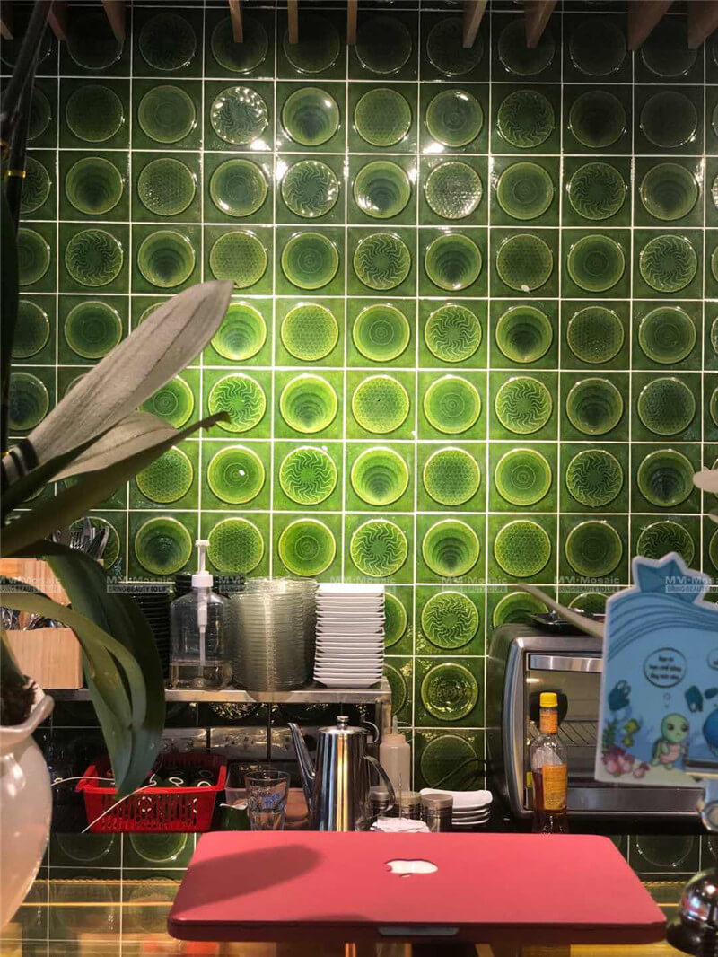 green backsplash with reasonable price