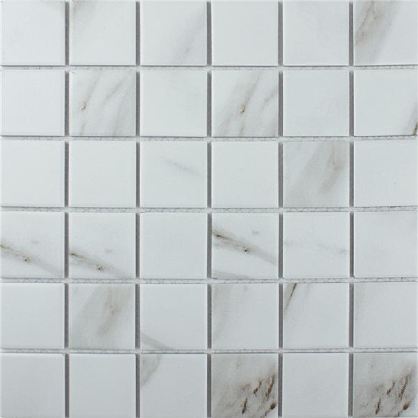 "2"" Calacatta Porcelain Mosaic Tile That Looks Like Marble"
