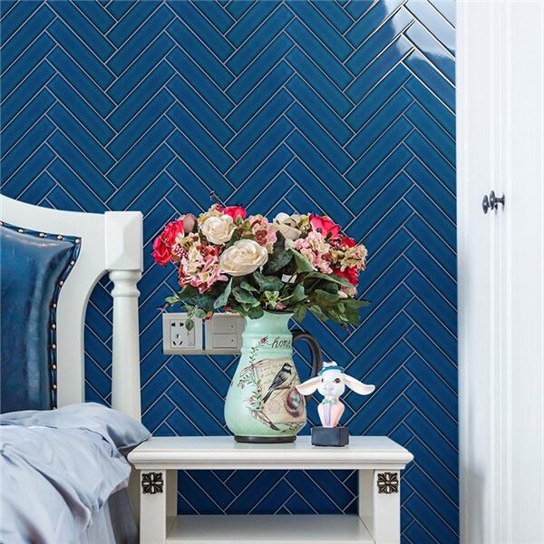 Latest Design Royal Hue Porcelain Herringbone Mosaic Tile